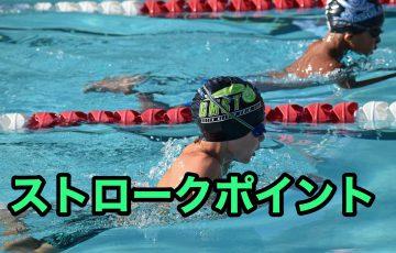 平泳ぎのストロークポイント