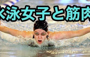 水泳女子と筋肉